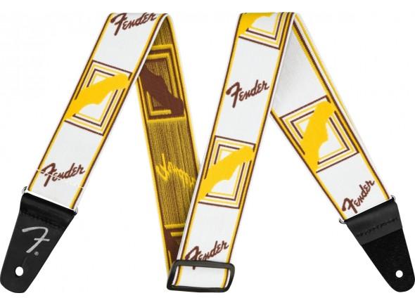Correia de nylon Fender Weighless 2'' Mono Strap White/Brown/Yellow