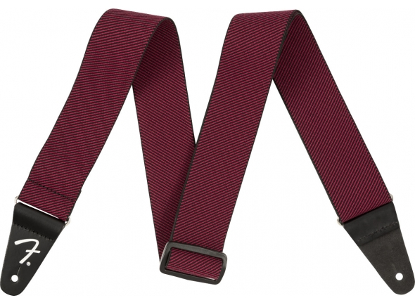 Correia de nylon Fender Weighless Strap Red Tweed