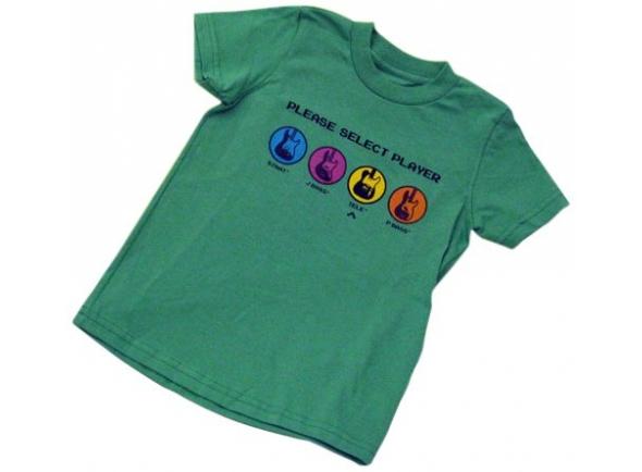 T-Shirt/T-shirts Fender Youth Choisissez un lecteur, Vert, L/10