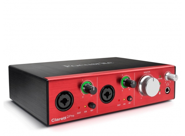 Interfaces de áudio Thunderbolt Focusrite Clarett 2Pre