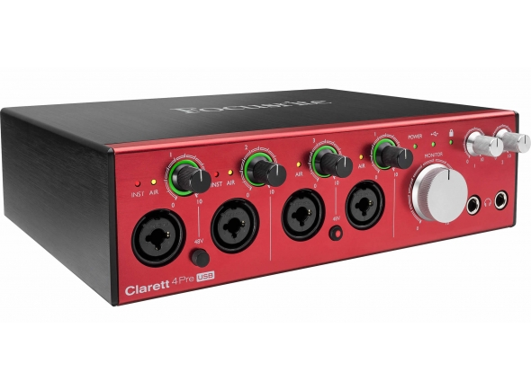 Interface Áudio USB Focusrite Clarett 4Pre USB