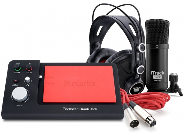 Ver mais informações do  Focusrite iTrack Dock Studio Pack