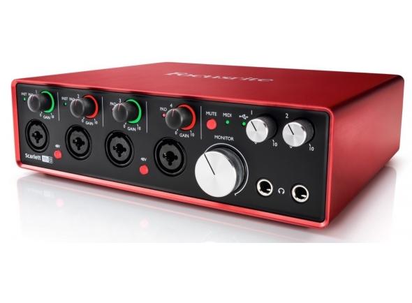 Interface Áudio USB Focusrite Scarlett 18i8 2nd Gen