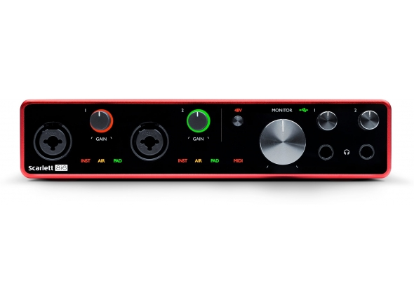 Interface Áudio USB Focusrite Scarlett 8i6 3rd Gen