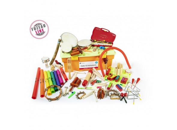 Instrumentos infantis/Instrumento Orff Fuzeau  9240 42 Instrumentos Mala