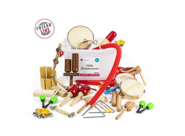 Kit de Instrumentos/Instrumento Orff Fuzeau  9241 28 Instrumentos Mala