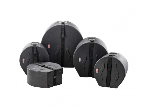Kit Case para Bateria/Estojos rígidos para bateria Gator Set Fusion 1 Roto Mold Drum