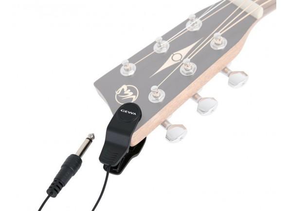 Microfone para afinador de guitarra/Captadores para guitarra acústica Gewa Microfone p/afinador de guitarra CM1 preto