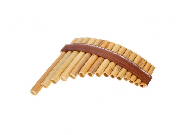 Flauta de Pan/Flauta de PAN Gewa Panpipes Bb- Major 15 Pipes