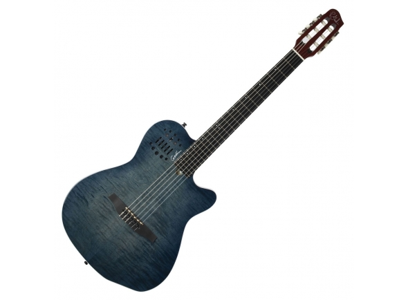 Guitarra Clássica Godin ACS Denim Blue Flame