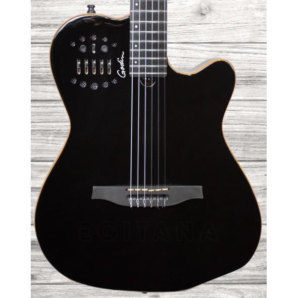 Guitarras clássicas eletrificadas Godin ACS Cedar Black
