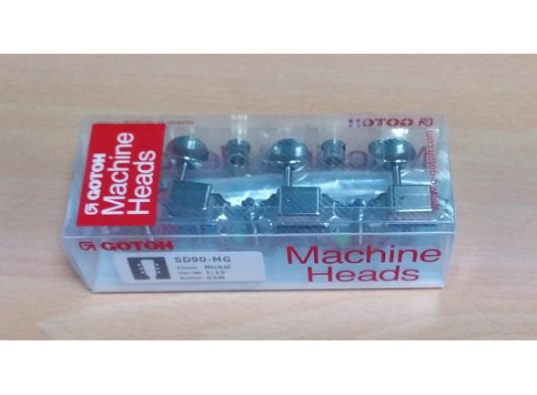 Carrilhão para Guitarra /Sistemas mecânicos 3L/3R para guitarra elétrica Gotoh SD90MG-05M 3+3 Nickel com Magnum Lock
