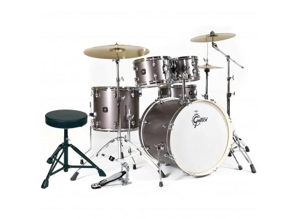 Bateria Acústica Completa/Conjunto de bateria completo Gretsch Drums Drums Energy Studio Grey Steel