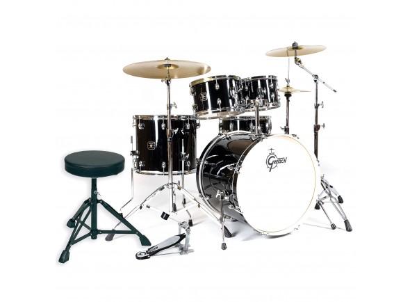 Bateria Acústica Completa/Conjunto de bateria completo Gretsch Drums Energy II Black