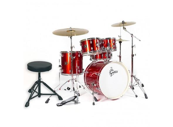 Bateria Acústica Completa/Conjunto de bateria completo Gretsch Drums Energy Studio Red