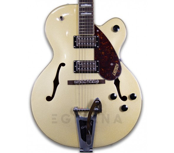 Guitarras Gretsch Guitarra elétrica hollowbody/Guitarras formato Hollowbody Gretsch G2420T Gold Streamliner
