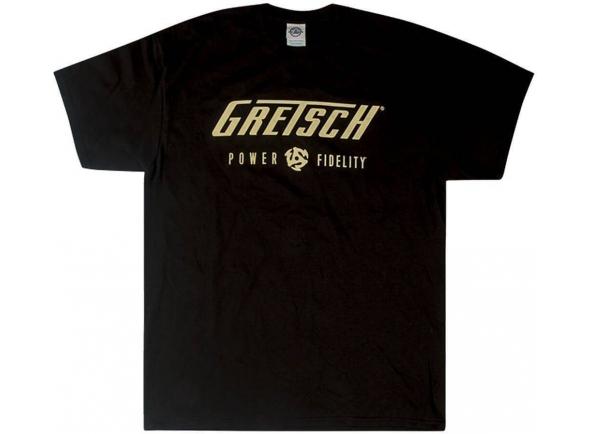 T-Shirt/Diversos Gretsch Power & Fidelity Logo T-Shirt Black XL