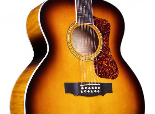 Guitarras acústicas de 12 cordas Guild F-2512E Deluxe Antique Sunburst