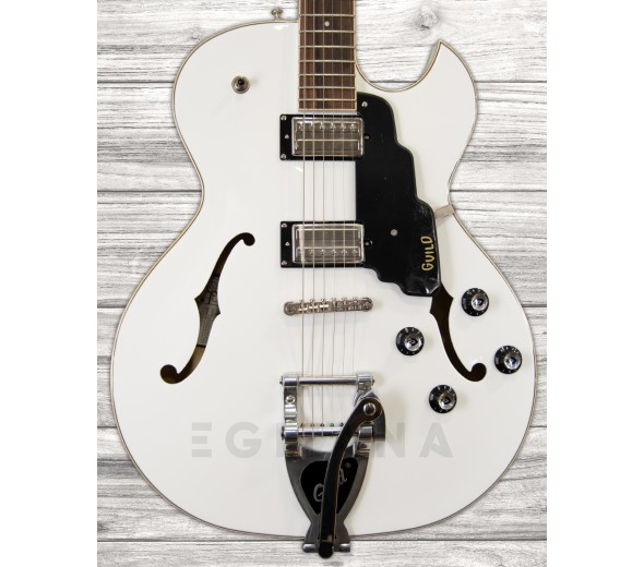 Guitarras formato Hollowbody Guild Starfire I SC Snowcrest White