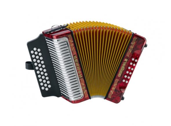 Concertina Hohner  Concertina  Corona II GCF Vermelho com Saco