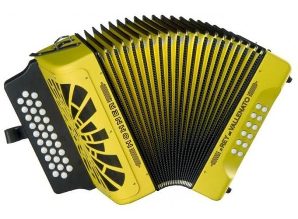Concertina Hohner El Rey del Vallenato Amarela