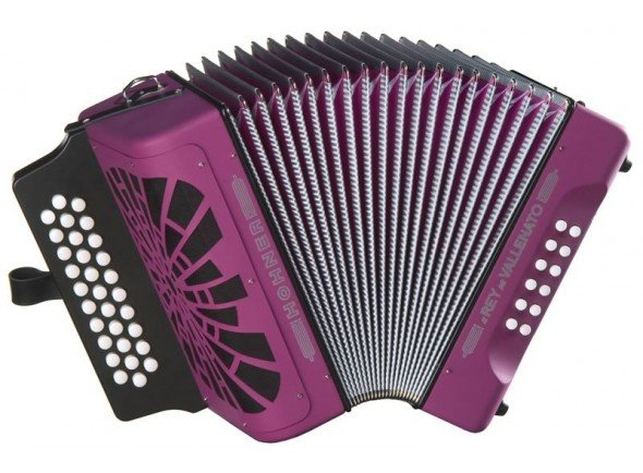 Concertina Hohner El Rey del Vallenato Violet  Concertina Hohner El Rey del Vallenato violet - Cor: Violeta - 3º voz