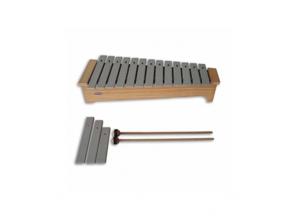 Instrumento Orff Honsuy Metalofone 49240 Soprano Diatónico Dó a Lá