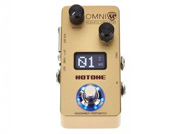Pedal de efeitos para guitarras elétricas e acústicas/Efeitos para guitarra acústica HoTone Omni AC Acoustic Simulator