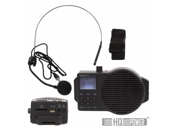 Sistema de PA Portátil c/ MIC Headset/HeadSets HQ Power Sistema Pa Portátil 5W USB/SD/FM/Bat C/ Mic