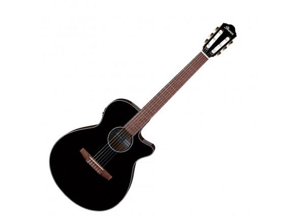 Guitarras clássicas eletrificadas Ibanez AEG50N-BKH Nylon B-Stock