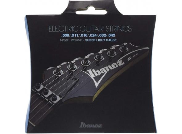 Jogo de cordas .009 Ibanez IEGS6 E-Guitar String Set .009-.042