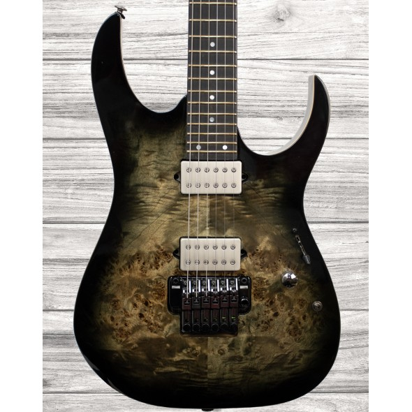Guitarras formato ST Ibanez RG1120PBZ-CKB Premium