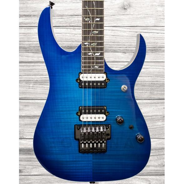 Guitarras formato ST Ibanez RG8520 SPB j.custom