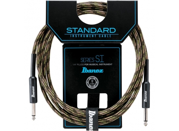 Cabo para Instrumento Ibanez SI 20-CGR Guitar Cable Jack 6.10m