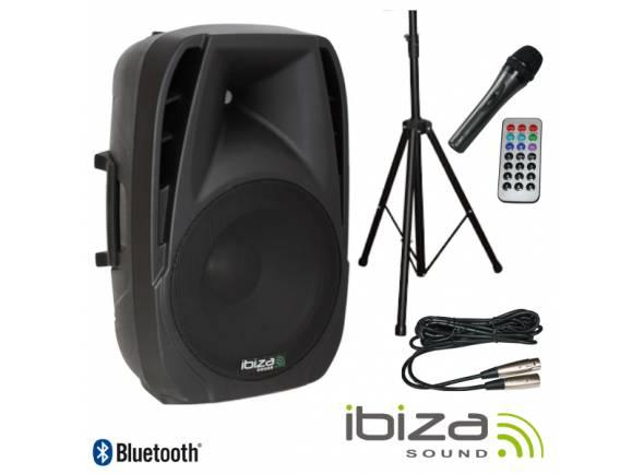 Colunas Amplificadas Ibiza BT15A-PACK