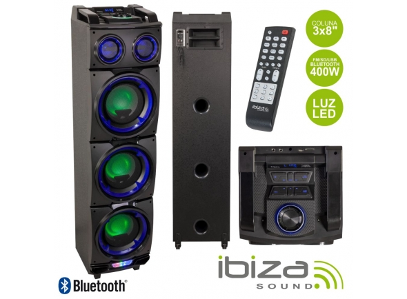 Colunas Amplificadas Ibiza COLUNA AMPLIFICADA 3X8