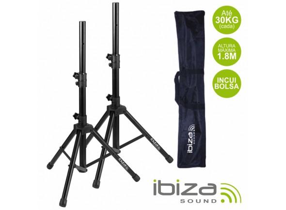 Suporte para coluna com bolsa/Suportes de Coluna Ibiza Conjunto 2 Suportes P/ Colunas C/ Bolsa 1.8m 30kg