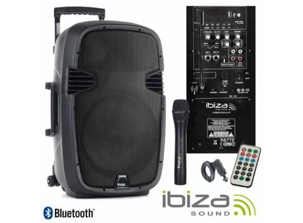 Colunas Amplificadas/Sistemas Portáteis com Bateria Ibiza HYBRID10VHF-BT