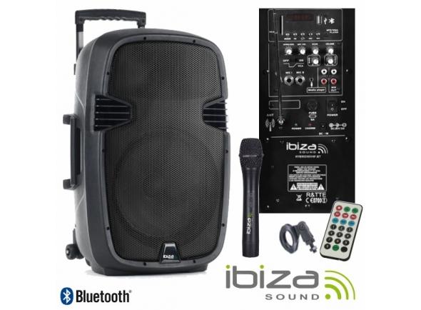 Colunas Amplificadas/Sistemas Portáteis com Bateria Ibiza HYBRID10VHF-BT B-Stock