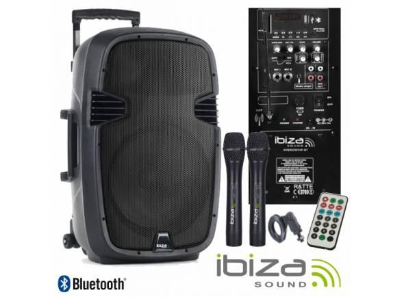 Sistemas Portáteis com Bateria Ibiza HYBRID15VHF-BT