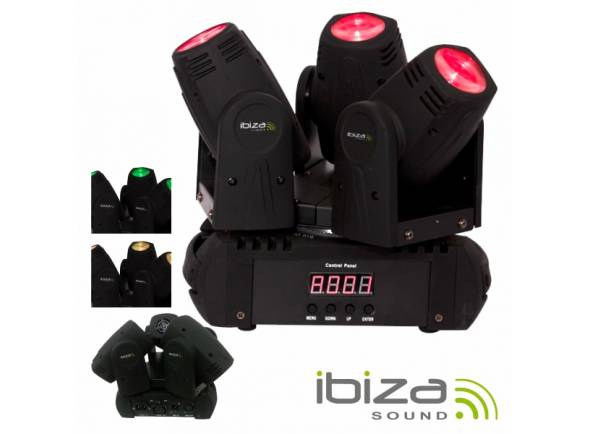 Moving Head LED/Moving Heads LED Ibiza LMH250LED-TRI