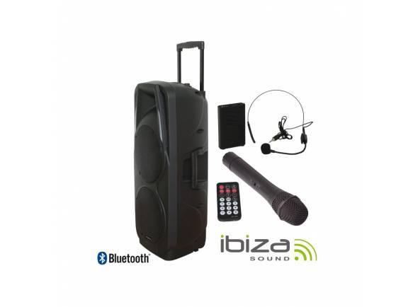 Sistema Portátil com Bateria/Sistemas Portáteis com Bateria Ibiza PORT 225 VHF BT