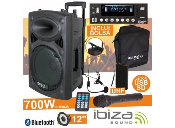 Sistemas Portáteis com Bateria Ibiza PORT12UHF-BT