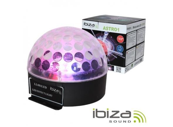 Projector LED PAR Ibiza Projetor Luz C/ 3 LEDS RGB 3W Mic LL081LED