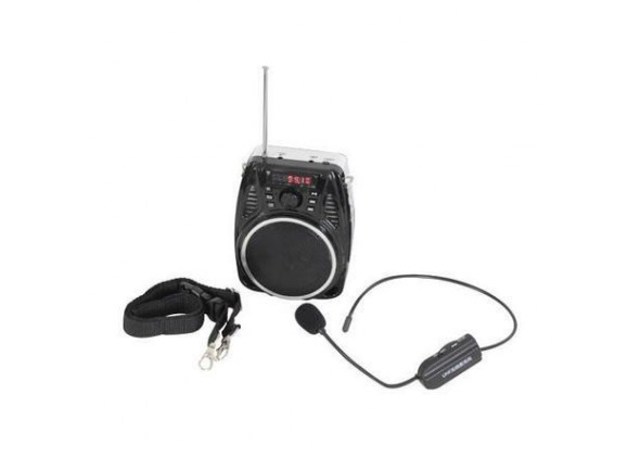 Altifalante com Microfone Portátil/Sistemas Portáteis com Bateria Ibiza SOUND PORT3-UHF