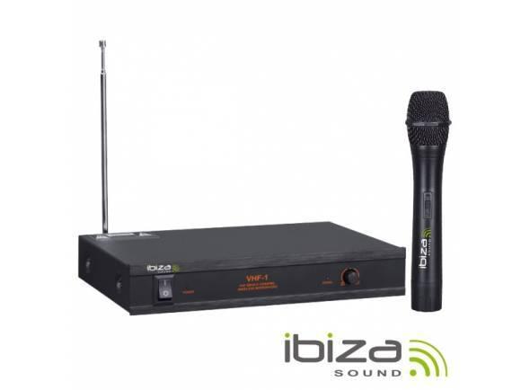 Microfone sem fios/Sistema sem fios com microfone de mão Ibiza VHF-1 Micro sem fio
