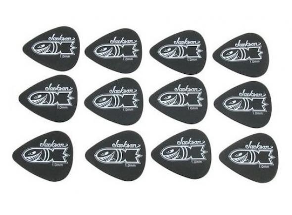 Palhetas para guitarra Jackson 351 Preto Bomb .1mm (pesado) 12 pack