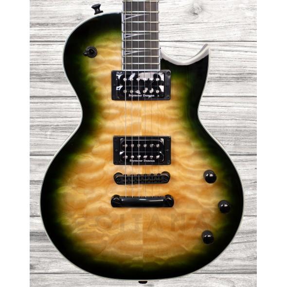 Guitarras formato Single Cut Jackson Pro Series Monarkh SCQ Ebony Alien Burst