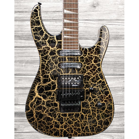 Guitarras formato ST Jackson SL3XDX Soloist, Gold Crackle