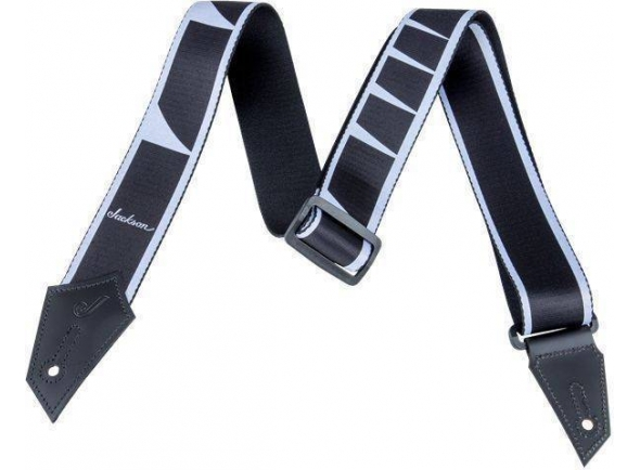 Correia de nylon Jackson Strap Inlay Black/White